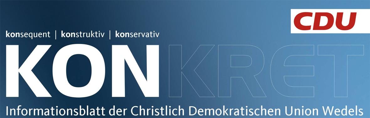 konkret Das Informationsblatt der CDU Wedel