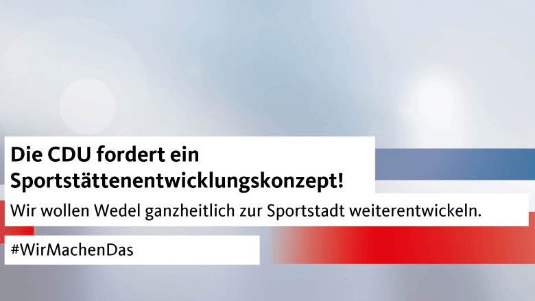 CDU fordert Sportstättenentwicklungsplanung